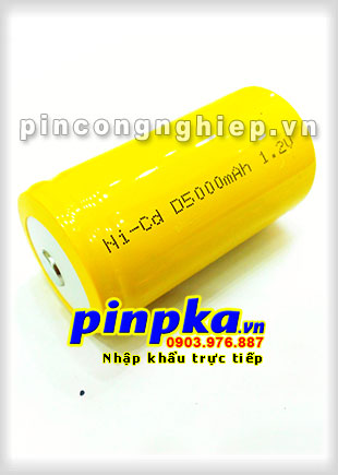 Pin Sạc Công Nghiệp-Pin Cell 1,2v NiCD D 5000mAh